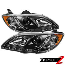 04-08 MAZDA 3 4DR New Pair Left+Right Black Projector Headlight Error Free DRL