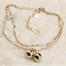 Anklet Lady Anklet Foot Jewelry Fashion Golden Anklet Temperament Double Bell