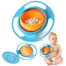 Baby Feeding Schüssel Dish Universal 360° Gyro Drehen Bowl Teller Anti-Spill