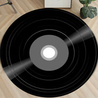 Vinyl Record Printed Modern Round Floor Mat Rug Carpet Area Home Bedroom