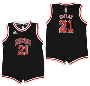 Adidas NBA Infants Chicago Bulls Jimmy Butler #21 Alternate Romper, Black