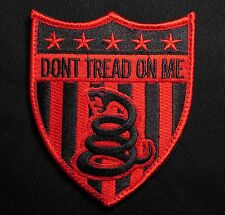 DON'T TREAD ON ME USA US SNAKE SHIELD FLAG XL BLACK OPS RED VELCRO® BRAND PATCH