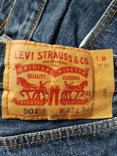 levis 501 32w 34l in good condition
