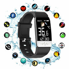 Fitness Smart Watch Tracker Body Temperature Blood Pressure Heart Rate SALE