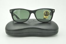 4f16772fab Ray Ban RB 2132 New Wayfarer Sunglasses 622 Matte Black   Green Lenses 52mm