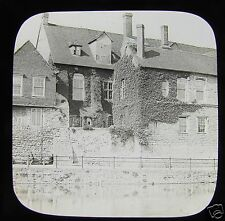 Glass Magic Lantern Slide HOUSE NEXT TO THE RIVER C1900 ENGLAND ?