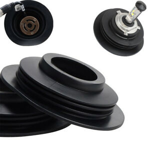 "2PCS Rubber Car HID Bulb Dust Cover Headlight Housing Seal Cap ID: 1.3"" OD: 4"""