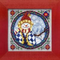 MILL HILL Counted Cross Stitch Beads Kit JIM SHORE Western Snowman