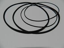 Quadrangolare Cinghia Set Philips N 4415 rubber Drive Belt Kit + testa Feltro Nuovo
