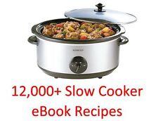 Cocina LENTA 12,000 Plus-Ebook Libros De Cocina & recetas en un DVD ROM