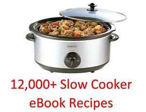 12,000 Plus -  Slow Cooker eBook Cookbooks & Recipes Collection On One DVD Rom