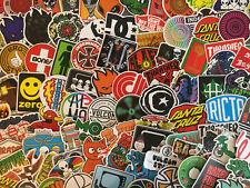 Lot de 100 stickers skate, logos, marques, skateboard, GLOSSY, sport, snowboard