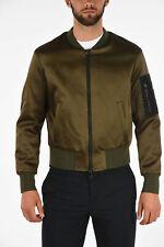 NEIL BARRETT men Jackets Sz M Military Green Bomber Full Zip Skinny Fit Green...