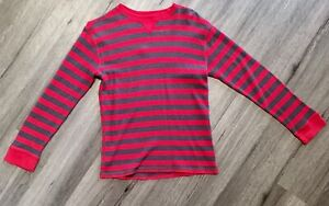 Faded Glory red and gray striped long sleeve shirt boys XL 14-16