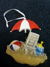 PersonalizedbySanta.com BEACH Chair Umbrella Christmas Ornament NEW (o2054)