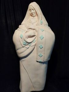 J. Vera C. 1989 Sculpture Of Mother And Child (unglazed)