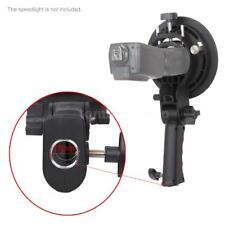 S-shaped Handheld Grip Bowens Mount Speedlight Bracket for Flashlight Umbrella