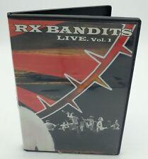 RX BANDITS Live DVD Volume 1 Studio Bootlegs Unplugged 2004 Punk OOP 2 Hours