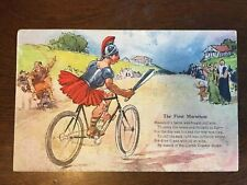 1910s Corbin Coaster Brake - The First Marathon Greek Riding Bike Advertisment
