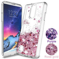 For LG Aristo 2, Stylo 4, G7, G6 Motion Liquid Glitter Quicksand TPU Case Cover