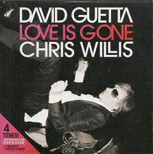 CD SINGLE 4 TITRES--DAVID GUETTA & CHRIS WILLIS--LOVE IS GONE--2007