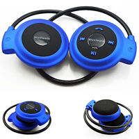 Wireless Bluetooth Stereo Headset Earphone Earbud Headphone with Mic for Running