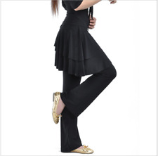 Long Pants with skirt Belly Dance Costumes Yoga Latin Trousers Dancewear #16