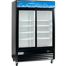 Commercial 2 Glass Door Merchandiser Refrigerator 53w Led Display Cooler Etl