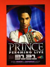 PRINCE • 3121 @ RIO, Las Vegas • Promo Flyer + Flyers O2 London + Live CD free!!