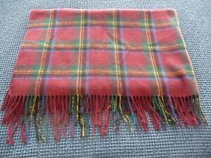 """Lauren Ralph Lauren Blanket Throw Wool Heritage Tartan Plaid 52""""X66"""" Fringe 4"""""""