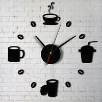 Fashion Acrylic DIY Self Adhesive Interior Wall Creative Home Decoration Clock