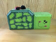 Cement Green Bug with Lady Bug on Back Garden Brick Stone Block Concrete