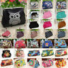 Women Vintage Mini Change Coin Purse Clasp Wallet Key Card Holder Clutch Bags US