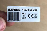 2x motor sticker decal BAFANG 250w 48V 36V BBS02B BBS01 Ebike legal silver