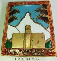 Distintivo Alpini Reggimento Artiglieria Alpina Gruppo Val Chisone mod. anonimo