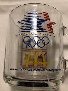 Vintage 1984 LOS ANGELES Olympics Coffee/Tea Cup/Mug McDONALDS Promotional GLASS