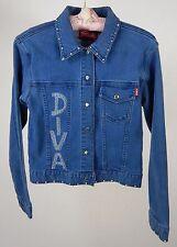 "INK Imagine Not Knowing....Embelished Denim Jacket ""Diva"" Made in Russia  Sz L"