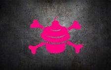 Cupcake crossbones 5'' vinyl car sticker decal l buy 1 get 1 free