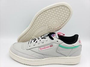 Reebok Classic Club C 85 RAD sneakers shoes gray leather pink [Men's Size 8]