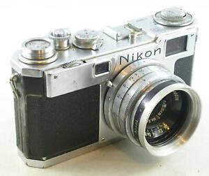Vintage EP Nikon S2 w/W-NIKKOR-C 1:2.5 f=3.5cm Wide Angle Lens