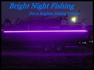 UV Black LED Strip Light Night Fishing UV Ultraviolet boat 12v fluorescent line