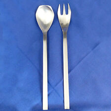 """GRACE-AB03 Stainless Amboss Austria SERVING SPOON & FORK 11"""" tall NEW NEVER USED"""