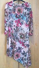 TopShop Petite size UK 8 Floral Sheer Dress Bikini Swimwear Cover Up Pink Drape