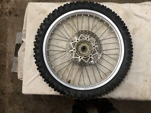 Yamaha Yz 125 2001 01 Front Wheel With Disk And Tyre