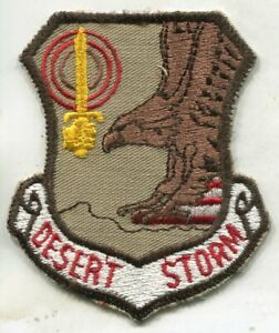 Vintage OPERATION DESERT STORM Embroidered Patch Eagle Shield
