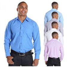 Unifarben Klassische Herrenhemden im Kentkragen-Stil mit Umschlagmanschette-Ärmelart aus Baumwolle