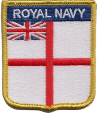 Royal Navy RN Ensign Flag Embroidered Patch
