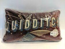 NEW QUIDDITCH PILLOW Harry Potter POTTERY BARN KIDS - SOLD OUT Burgundy Velvet