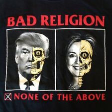 Official BAD RELIGION 2016 NORTH AMERICAN TOUR T-Shirt XL concert Donald trump
