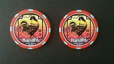 harrahs reno chinese new year of the rooster $5 casino chip unc